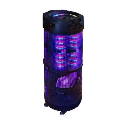 Portable Bluetooth Party Speaker with 360-Degree Sound Reactive LED Lights