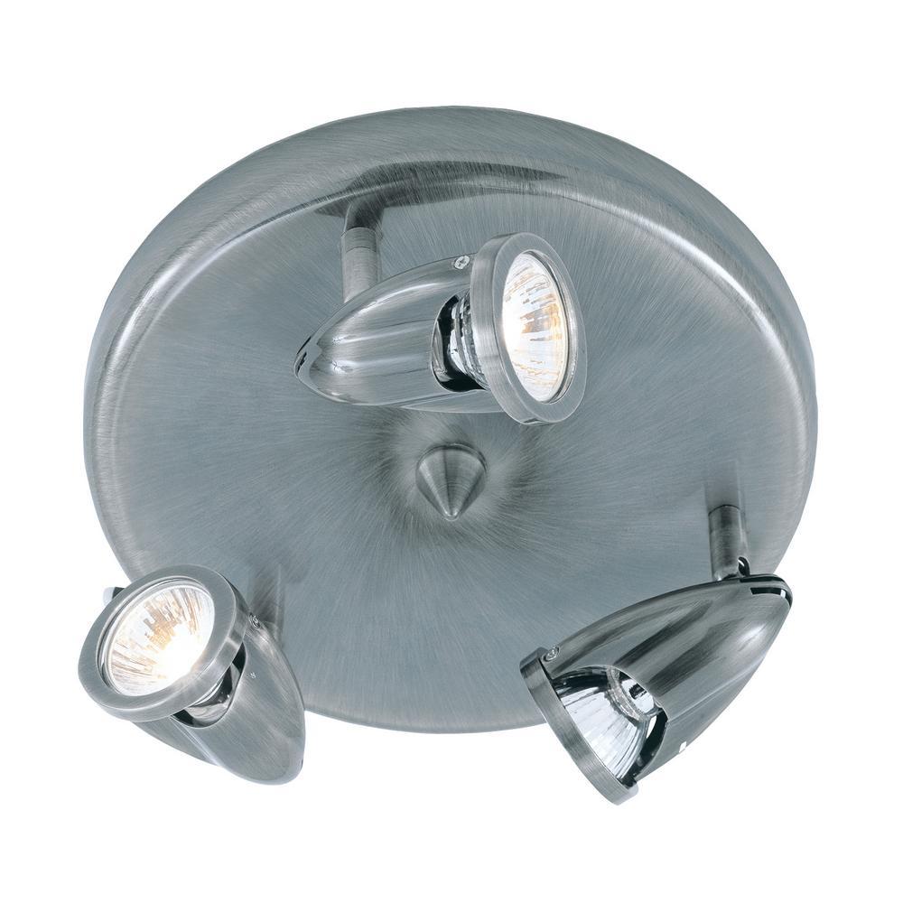 Stingray 10 in. 3-Light Brushed Nickel Track Lighting Kit