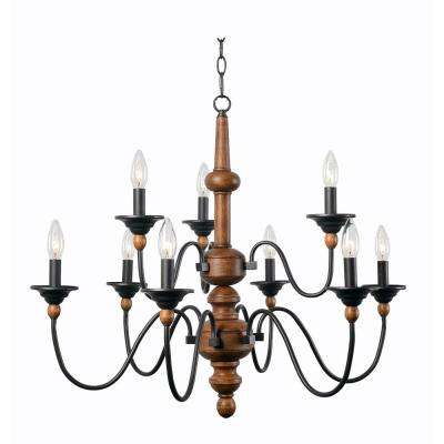 Madeline 9-Light Wood Chandelier
