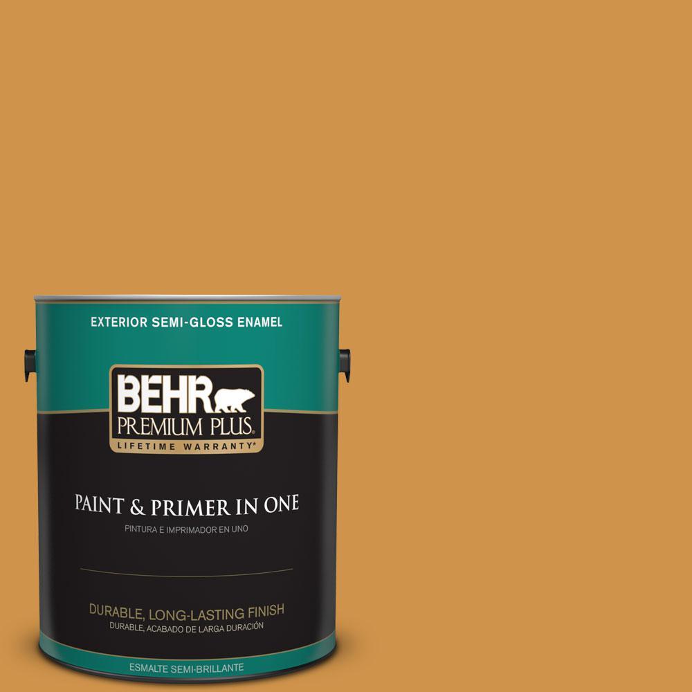 1-gal. #M260-6 Sweet Mustard Semi-Gloss Enamel Exterior Paint