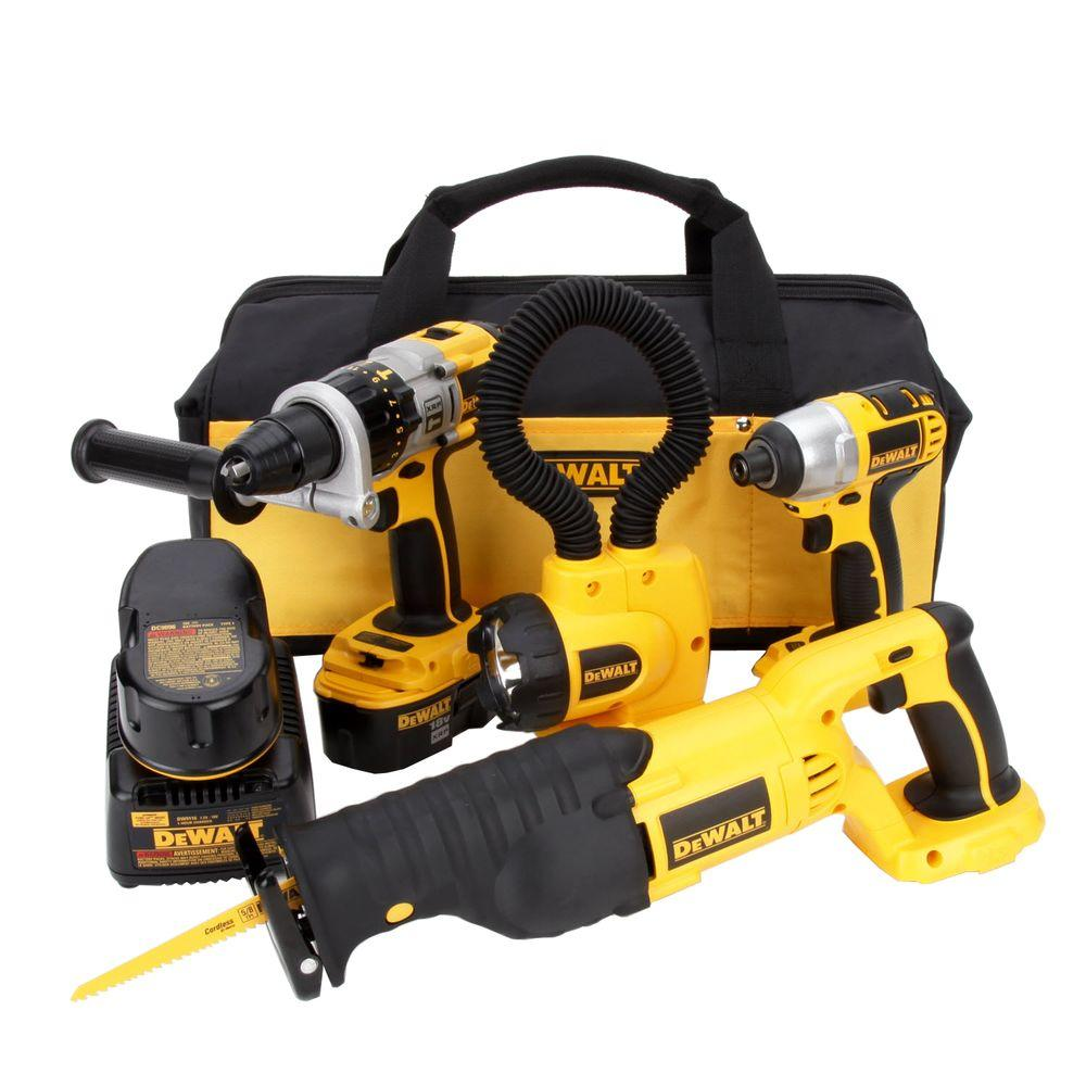 18-Volt XRP NiCd Cordless Combo Kit (4-Tool) with (2) Batteries 2.4Ah,