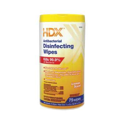 Lemon Scented Antibacterial Disinfecting Wipes (75-Count)