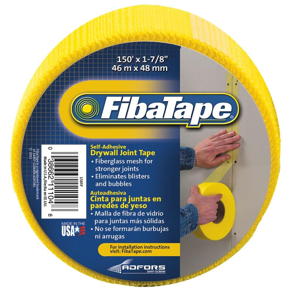 FibaTape 1-7/8 in. x 150 ft. Yellow Self-Adhesive Mesh Drywall Joint