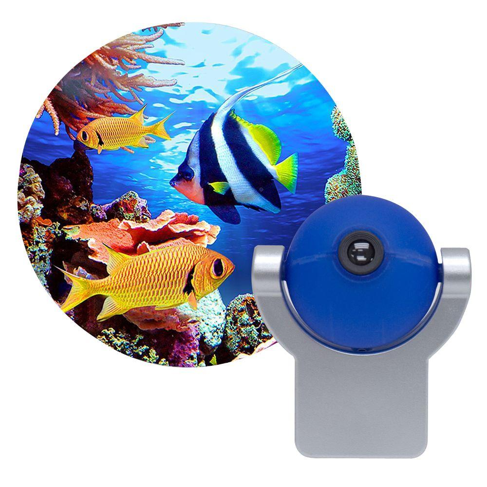 Projectables Tropical Fish Automatic Led Night Light 11296 The