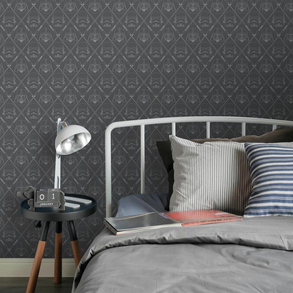 RoomMates-28.18 sq. ft. Star Wars Dark Side Peel and Stick Wallpaper