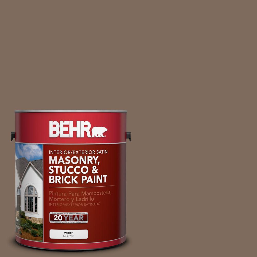 1 gal. #PPU5-3 Antique Earth Satin Interior/Exterior Masonry, Stucco and Brick Paint