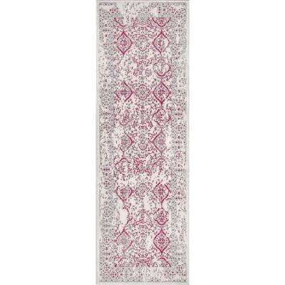 Vintage Odell Pink 2 ft. 8 in. x 8 ft. Runner Rug