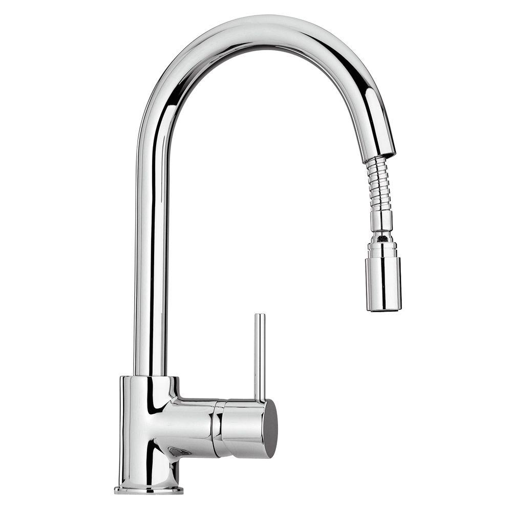 Single Handle Pull Down Sprayer Kitchen Faucet In Chrome The Most