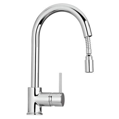 Elba Single-Handle Pull-Down Sprayer Kitchen Faucet in Chrome