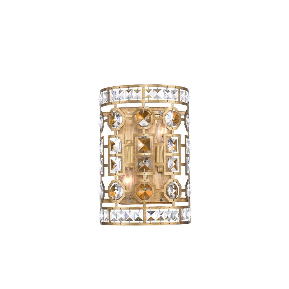 CWI Lighting Belinda 8 in. Champagne Sconce with Clear Crystals