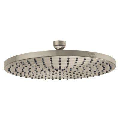 Raindance 240 1-Spray 10 in. Air Showerhead in Brushed Nickel