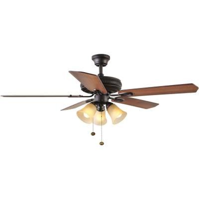 Glendale 52 in. Indoor Oil Rubbed Bronze Ceiling Fan with Light Kit