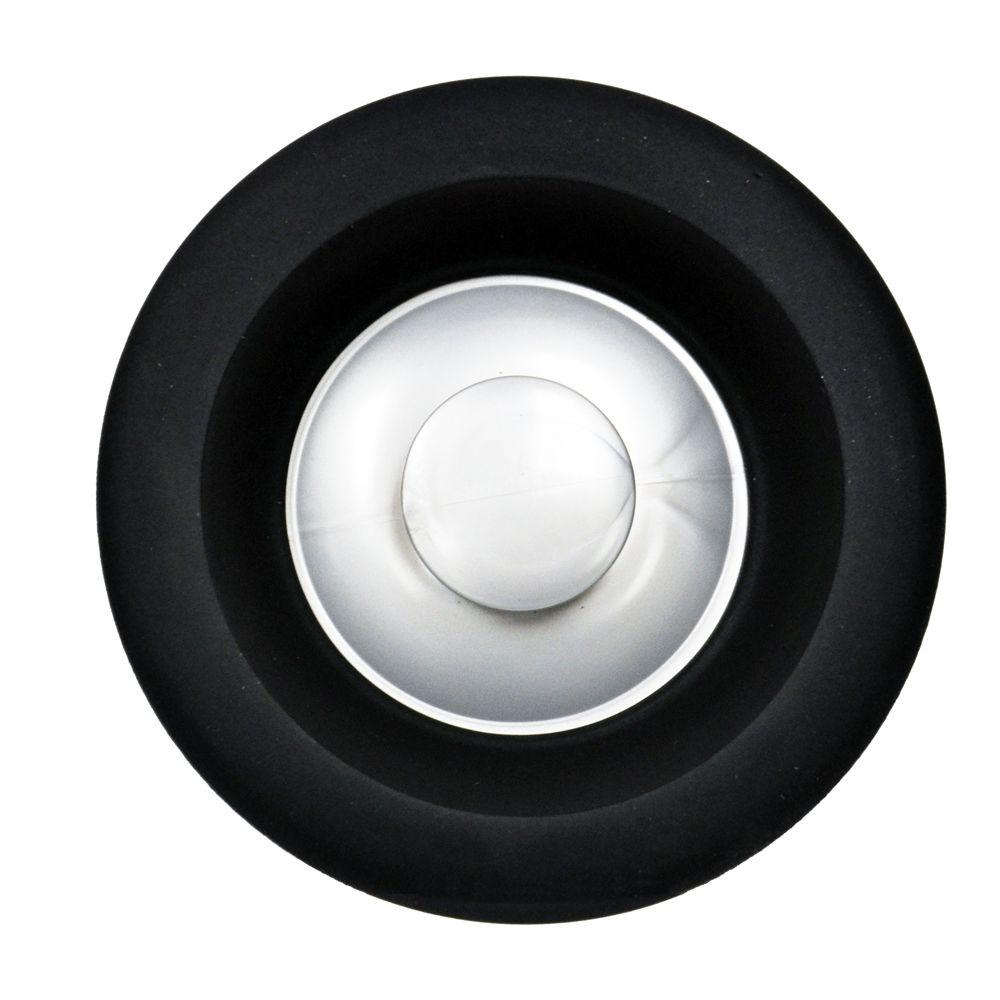 Garbage Disposal Stopper with Microban in Black