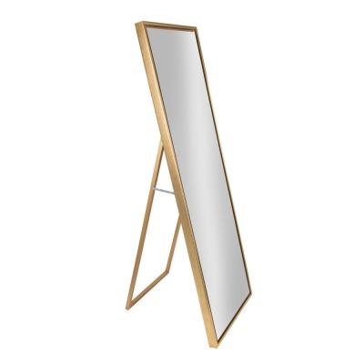 Large Gold Composite Glam Mirror (58 in. H X 18 in. W)