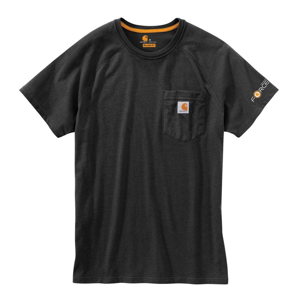 Force Delmont Men's Regular Small Black Cotton Short Sleeve T-Shirt