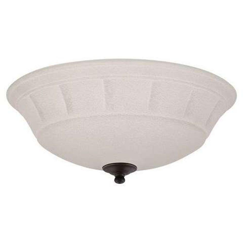 Illumine Zephyr 3-Light Golden Espresso Ceiling Fan Light Kit
