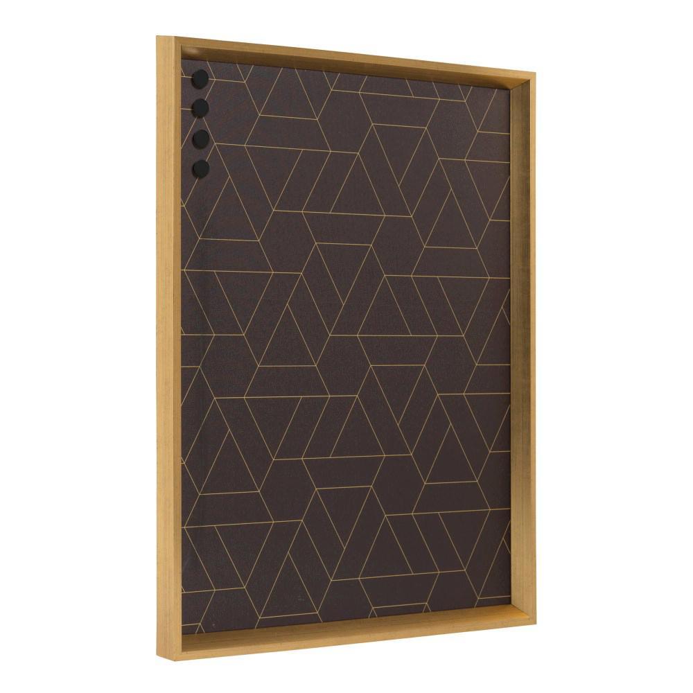 Kate and Laurel Calter Gold Black Geo Magnetic Memo Board