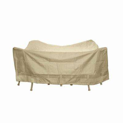 Polyester Square Patio Table and Chair Set Cover with PVC Coating