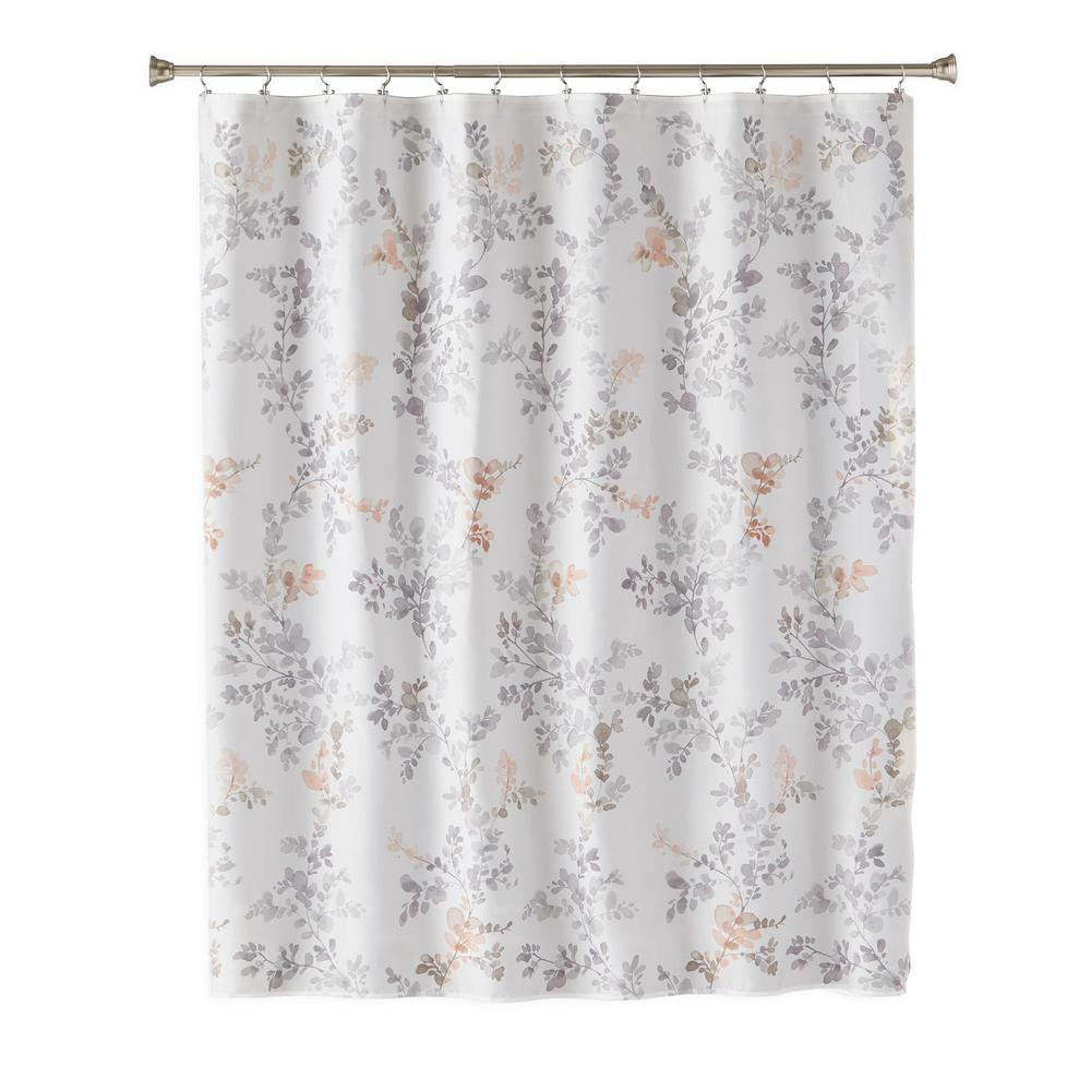 SKLHome SKL Home Greenhouse Leaves 72 in. Multi Shower Curtain, Multi-Colored