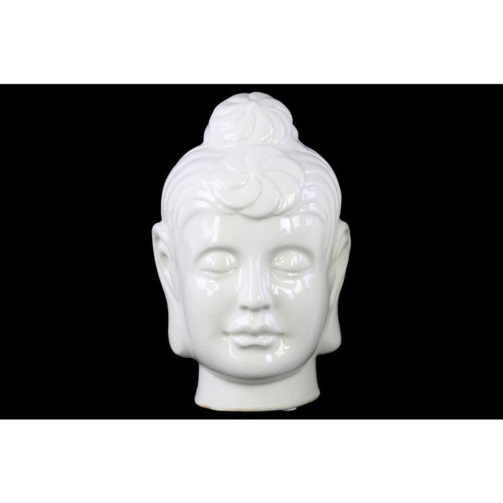 Urban Trend 9.75 in. H Buddha Decorative Sculpture in Whi...
