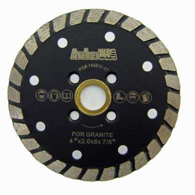 4 in. Wide Turbo Diamond Blade for Stone and Masonry Cutting