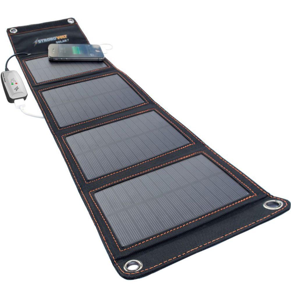 StrongVolt 7-Watt Folding Solar Charger with SunTrack ...