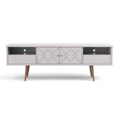 Trinity 70.86 in. White Gloss Mid-Century Modern TV Stand