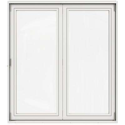 72 in. x 80 in. Primed Fiberglass Right-Hand Full Lite F-2500 Folding 2-Panel Patio Door Kit