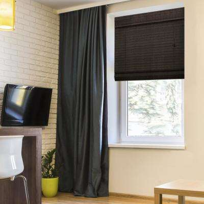 Coffee Westside Bamboo Roman Shade - 72 in. W x 64 in. L