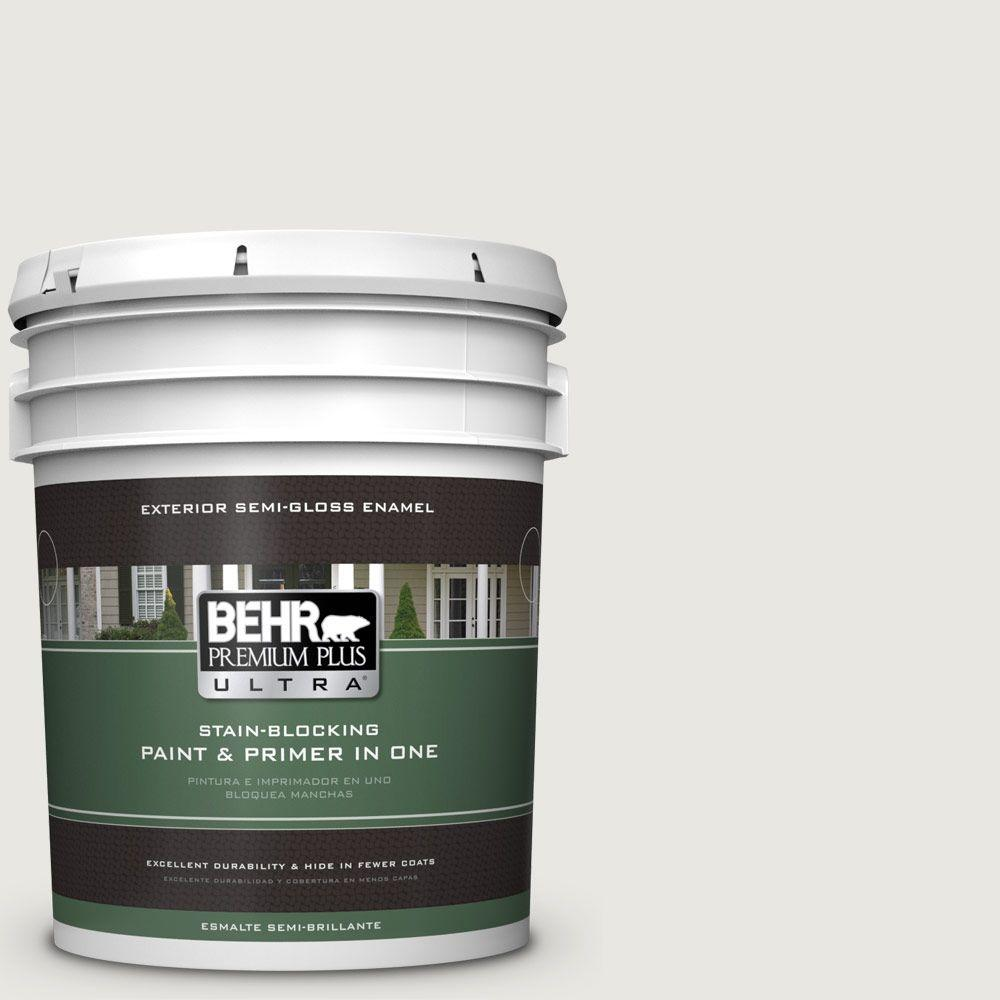 BEHR Premium Plus Ultra 5-gal. #BWC-30 Diamonds Therapy Semi-Gloss Enamel Exterior Paint