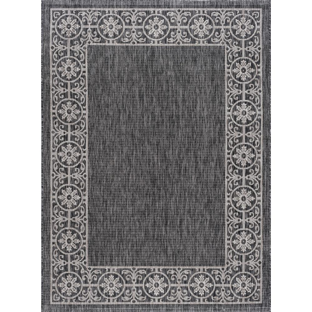 Outdoor Rug 7 X 10: Tayse Rugs Veranda Black 7 Ft. 10 In. X 10 Ft. 3 In
