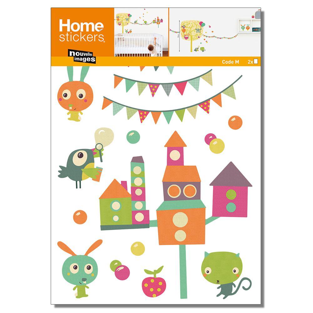 Multicolor Tree Owl/Kids Home Sticker