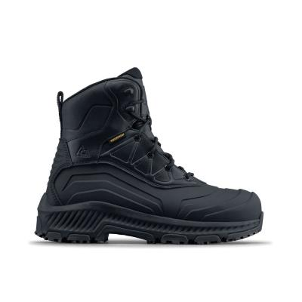 7ae67ca744e Ace Burren CT Unisex Size 11M Black Leather Slip-Resistant Composite ...