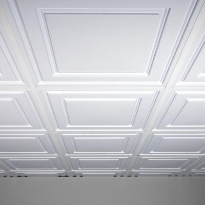Oxford White 2 ft. x 2 ft. Lay-in Ceiling Panel (Case of 6)