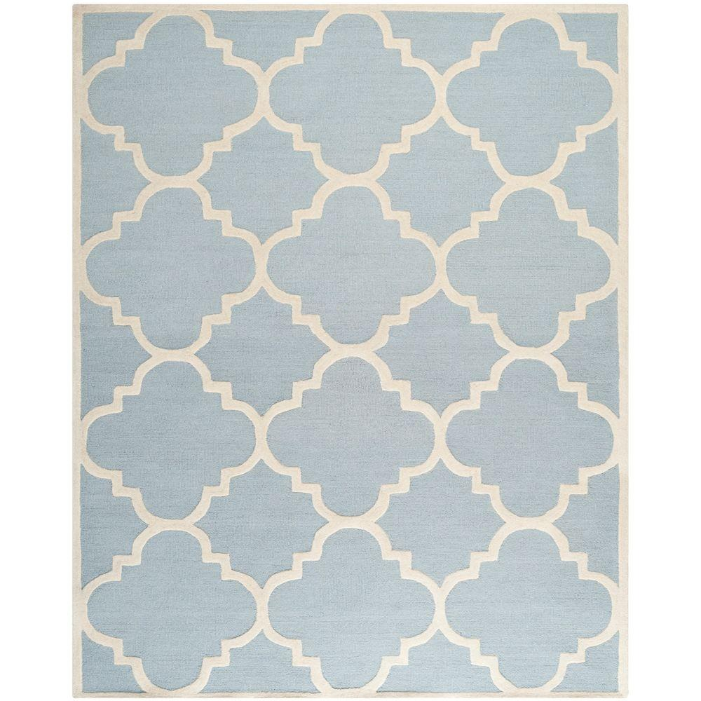 Cambridge Light Blue/Ivory 10 ft. x 14 ft. Area Rug