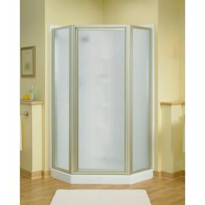 Sterling Intrigue 27-9/16 inch x 72 inch Neo-Angle Shower Door in Nickel with Handle by STERLING