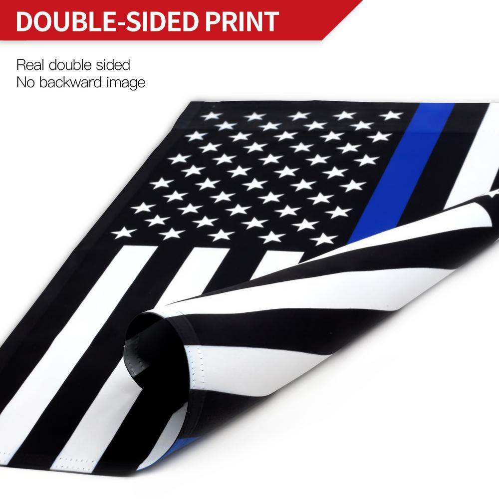 3 x 5  Thin Blue Line Garden Flag  American Police Flag Stars Stripes