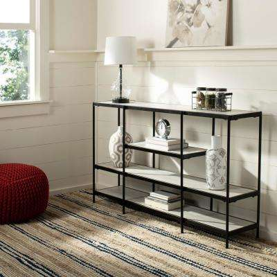 Petra 3-Tier Beige/Black Console Table