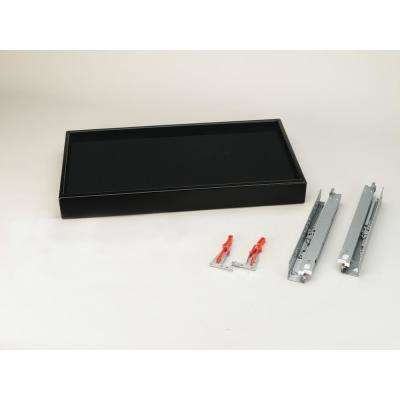 18 in. Black Small Undermount Jewelry Drawer