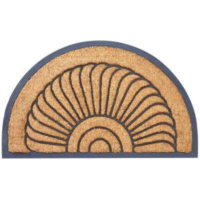 Arc du Soleil Tan 30 in. x 18 in. Coir Outdoor Door Mat