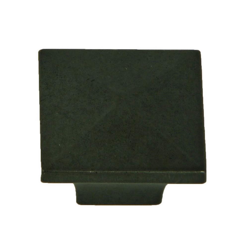 Cairo 1-1/4 in. Antique Black Square Cabinet Knob (10-Pack)