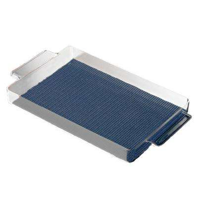 Fishnet Rectangular Serving Tray in Navy