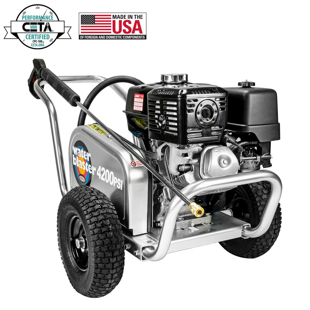 Simpson SIMPSON Aluminum Water Blaster ALWB60828 4200 PSI at 4.0 GPM HONDA GX390 Belt Drive Cold Water Pressure Washer