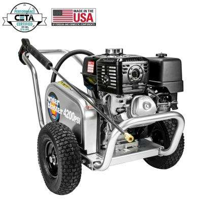 Water Blaster 4200PSI 4.0GPM HONDA GX390 CAT Triplex Plunger Pump Cold Water Professional Belt Drive Gas Pressure Washer