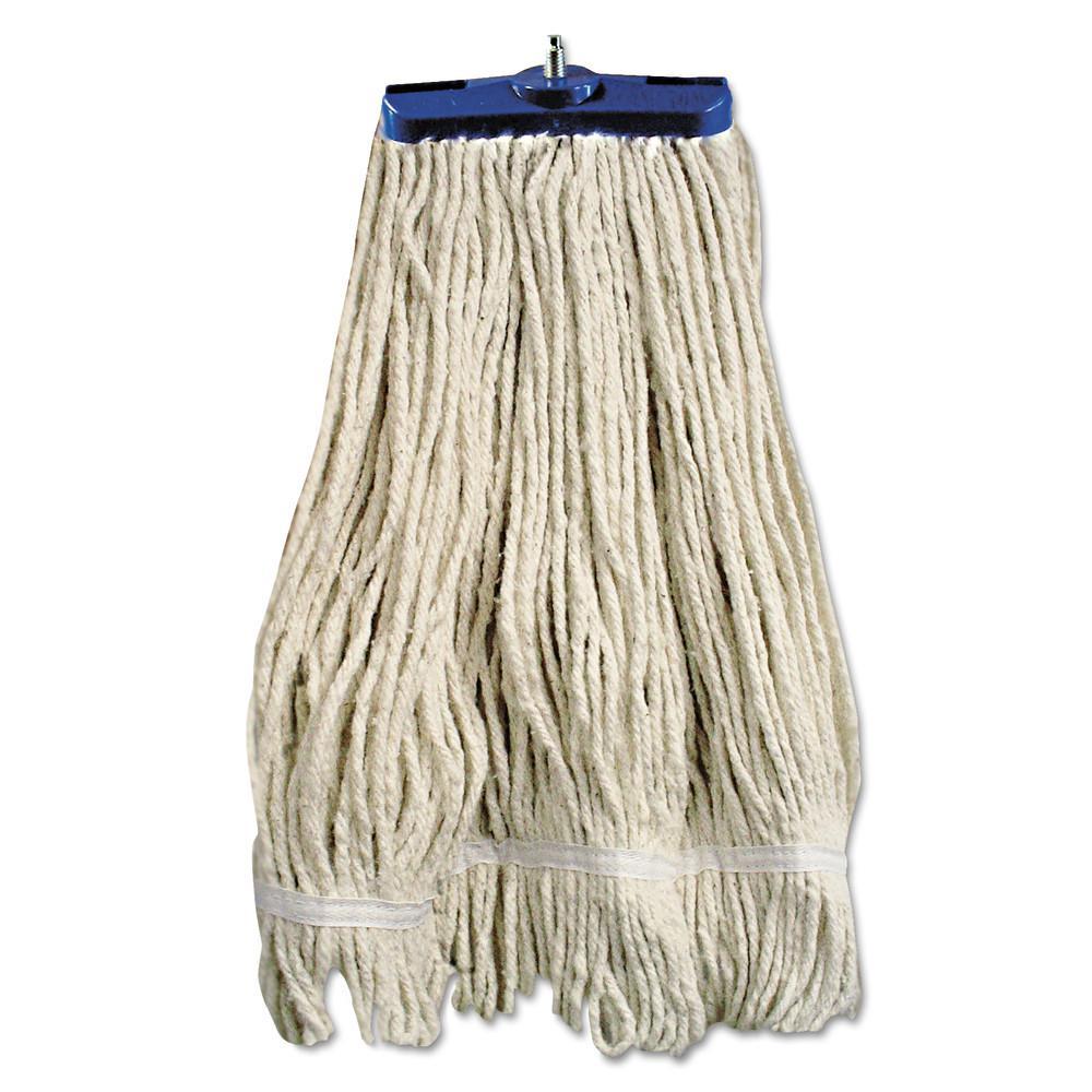 24 oz. White String Mop Head Lie-Flat Head Cotton Fiber (12/Carton)