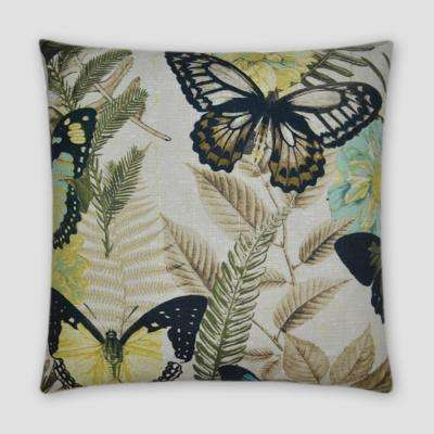 Janelle Feather Down 20 in. x 20 in. Standard Decorative Throw Pillow