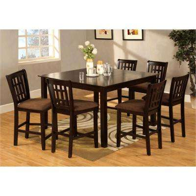 Eleanor 7-Piece Espresso Bar Table Set