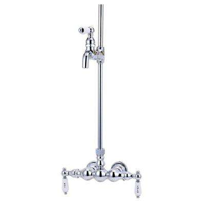 TW19 2-Handle Claw Foot Tub Faucet without Handshower in Satin Nickel