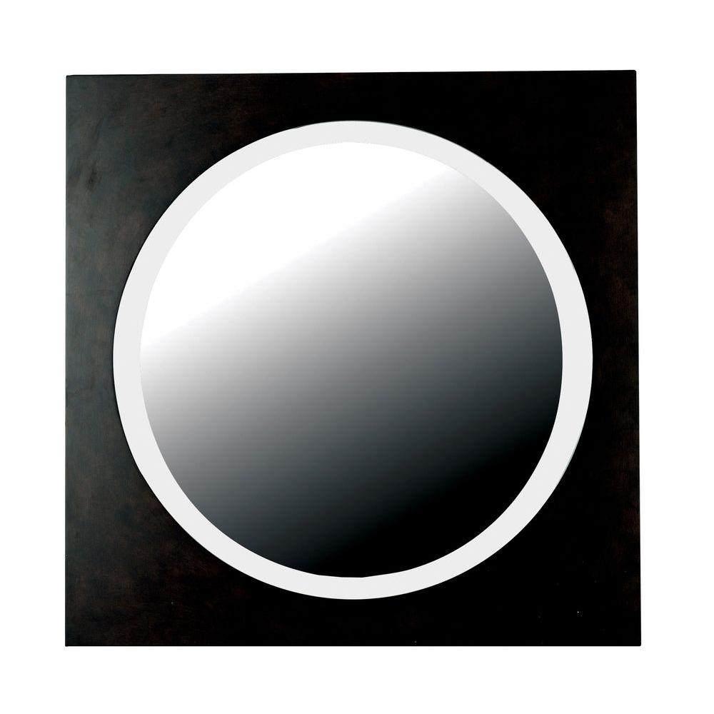 Home Decorators Collection Eclipse 34 in. Round MDF Framed Mirror