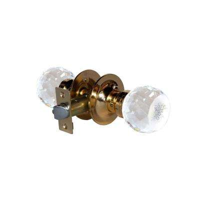 Love Rose Crystal Brass Passive Door Knob with LED Mixing Lighting Touch Activated